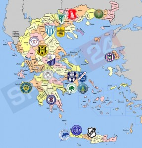 O νέος (;) χάρτης της Football League
