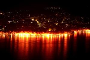 Πυροτεχνήματα στη Λίμνη για τα γενέθλια του ΠΑΣ