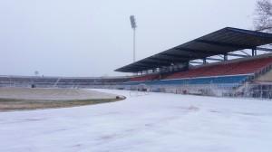 Ξημέρωσε με χιόνι και -6, στον αέρα το ματς με τον Αστέρα