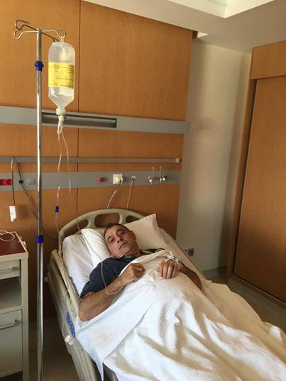 Στο νοσοκομείο αλλά δεν χάνει το χιούμορ του ο Χρ. Γιαλιάς