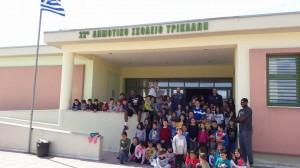 Επίσκεψη σε σχολείο για τους «κυανέρυθρους»