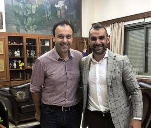 Συνάντηση Χούτου με τον Δήμαρχο Τρικκαίων