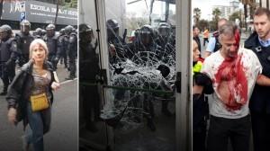 Ματωμένο δημοψήφισμα στην Καταλονία με 844 τραυματίες