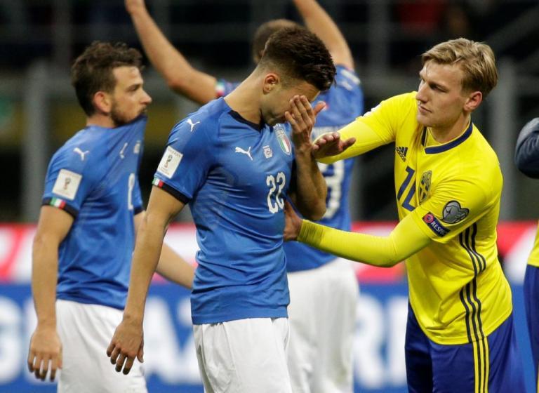 H Σουηδία άφησε εκτός Μουντιάλ την Ιταλία