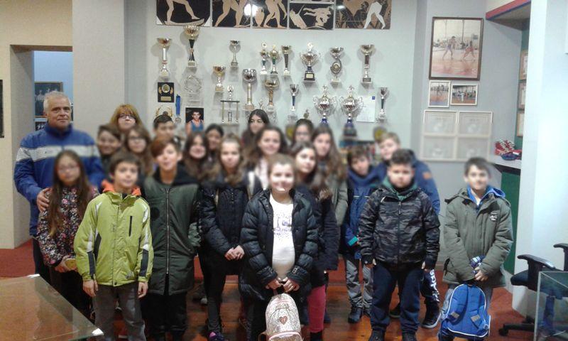Τα παιδιά του Δημ. Σχολείου Σωτήρας στο Αθλητικό Μουσείο