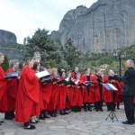 Σκοτσέζοι χορωδοί φοιτητές σε ανοιχτή συναυλία στο Καστράκι