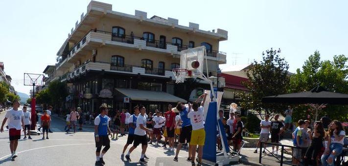 Παίχθηκε  Street basket  στην Καλαμπάκα