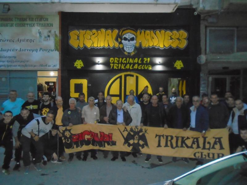 Επίσκεψη στο κλαμπ της ΑΕΚ στα Τρίκαλα
